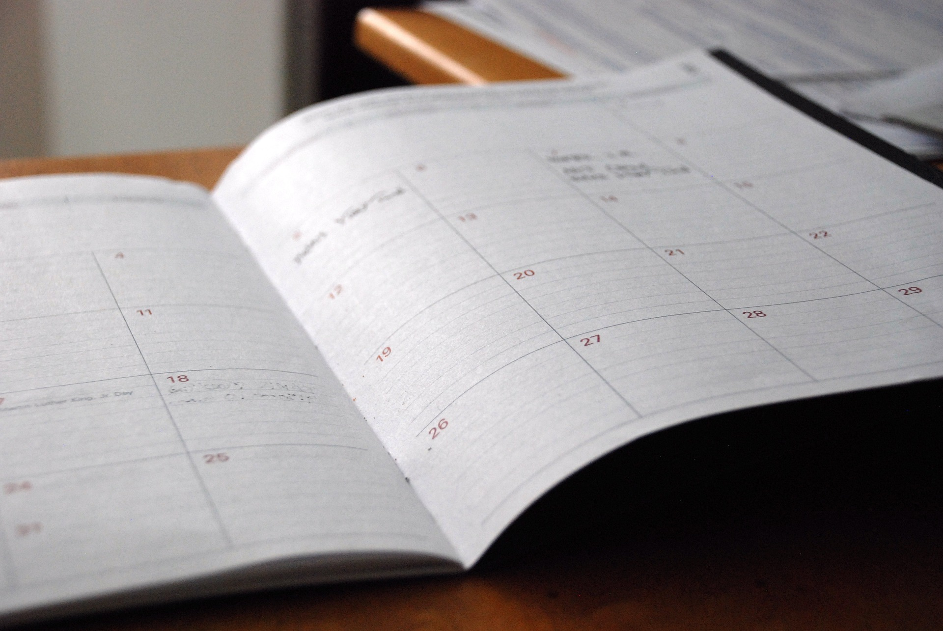 Picture of a day planner, an essential tool if you would like to get organized.