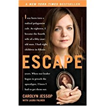Escape by Carolyn Jessop; book recommendations for multitalented writers