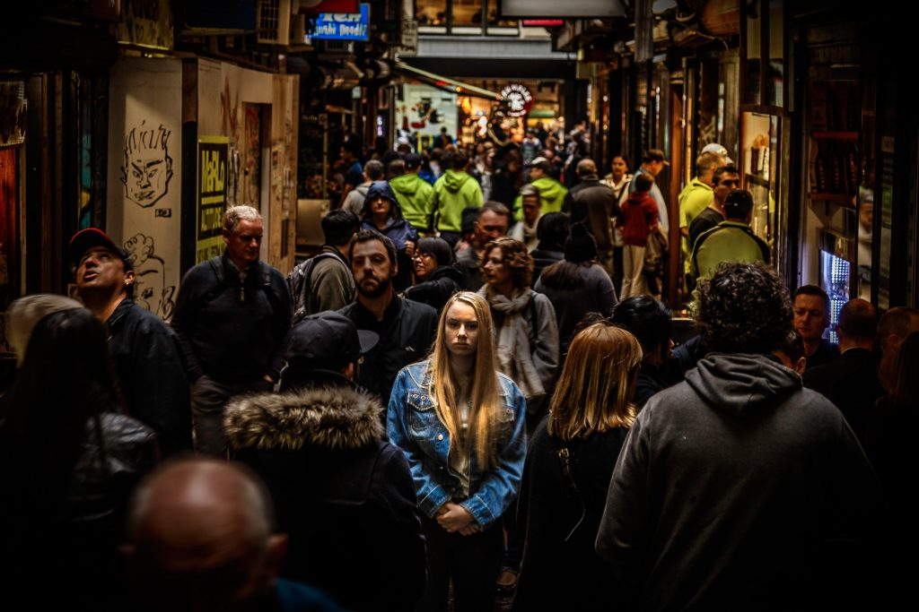 strangers in a crowd photo by Mike Wilson @mkwlsn Follow Mike Wilson on Unsplash