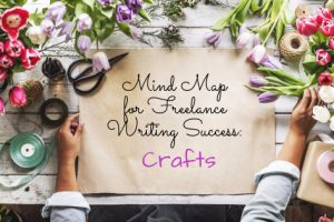 Mind Maps for Freelance Writing Success: Crafts text on craft table for florist