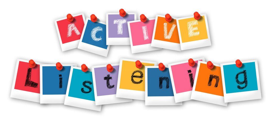 active listening baner