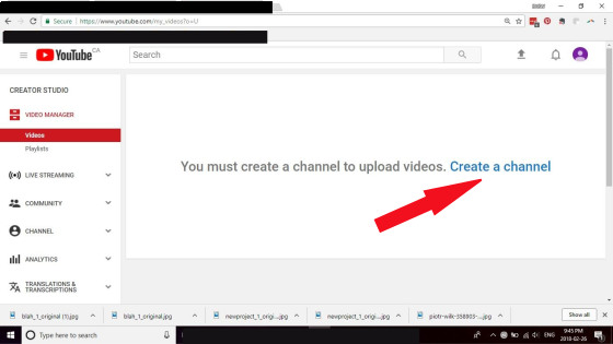 create a channel on youtube print scren; promote your writing on youtube