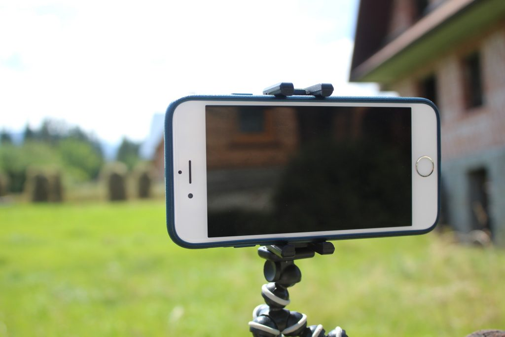 cell phone on a flexible tripod; how to record video without special equipment