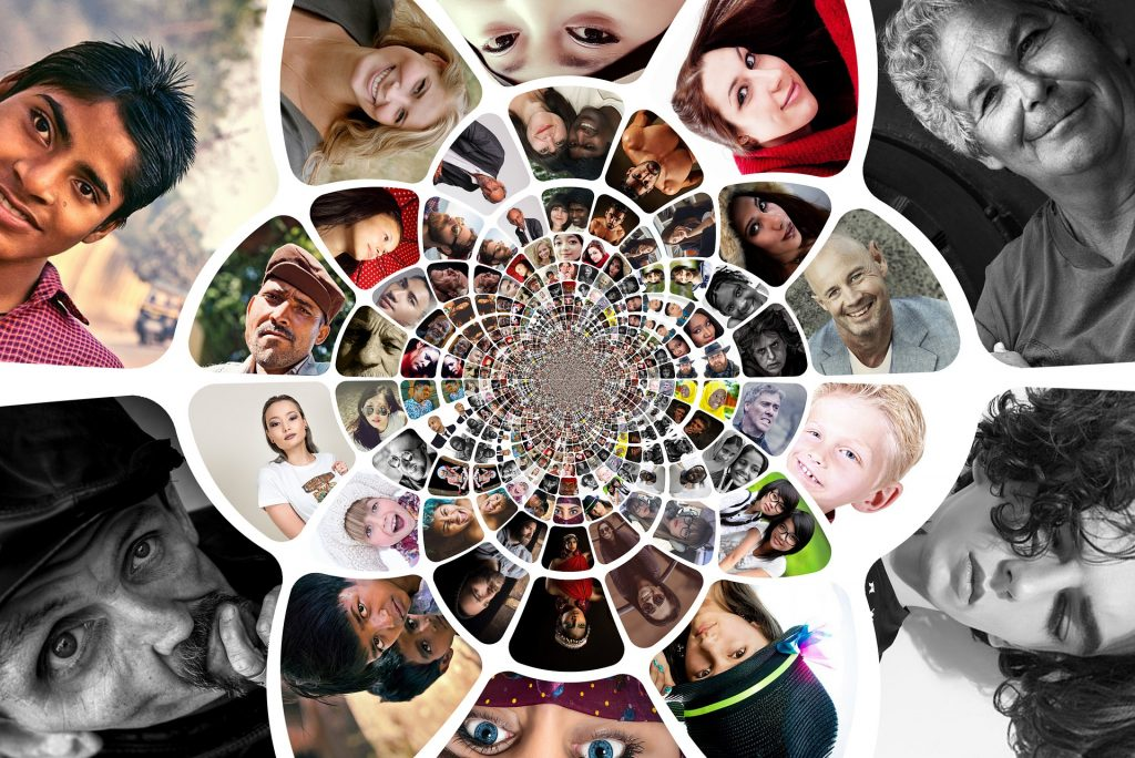 faces mosaic; facebook groups for writers