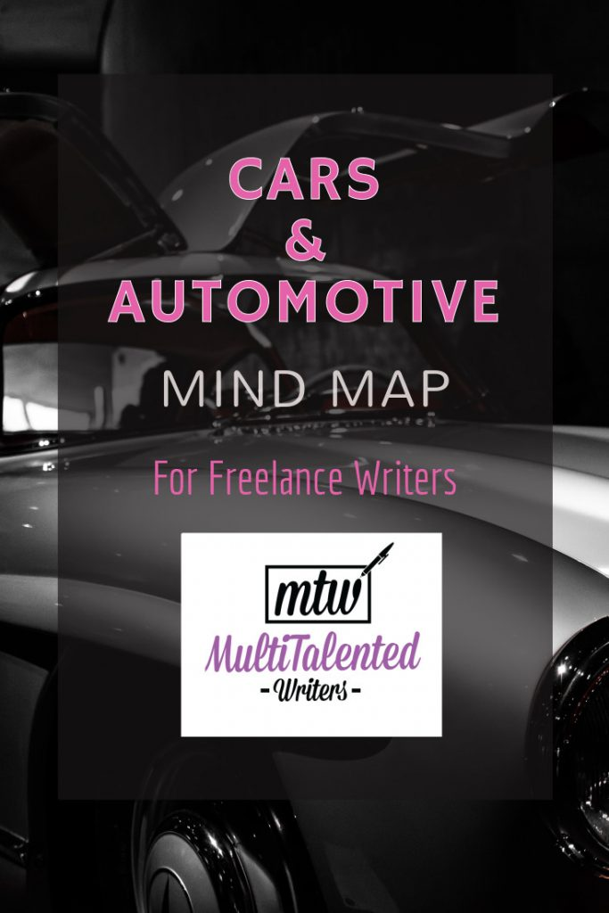 Cars & Automotive Mind Map for Freelance Writing Success!