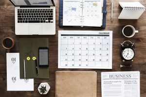 Organized desk; Evernote
