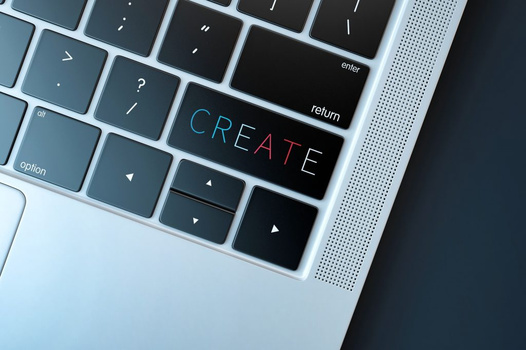 "laptop keyboard with ""create"" key"""