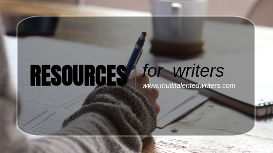 Resources for Writers Title Graphic, woman writing with a pen on a table; Photo by Green Chameleon on Unsplash