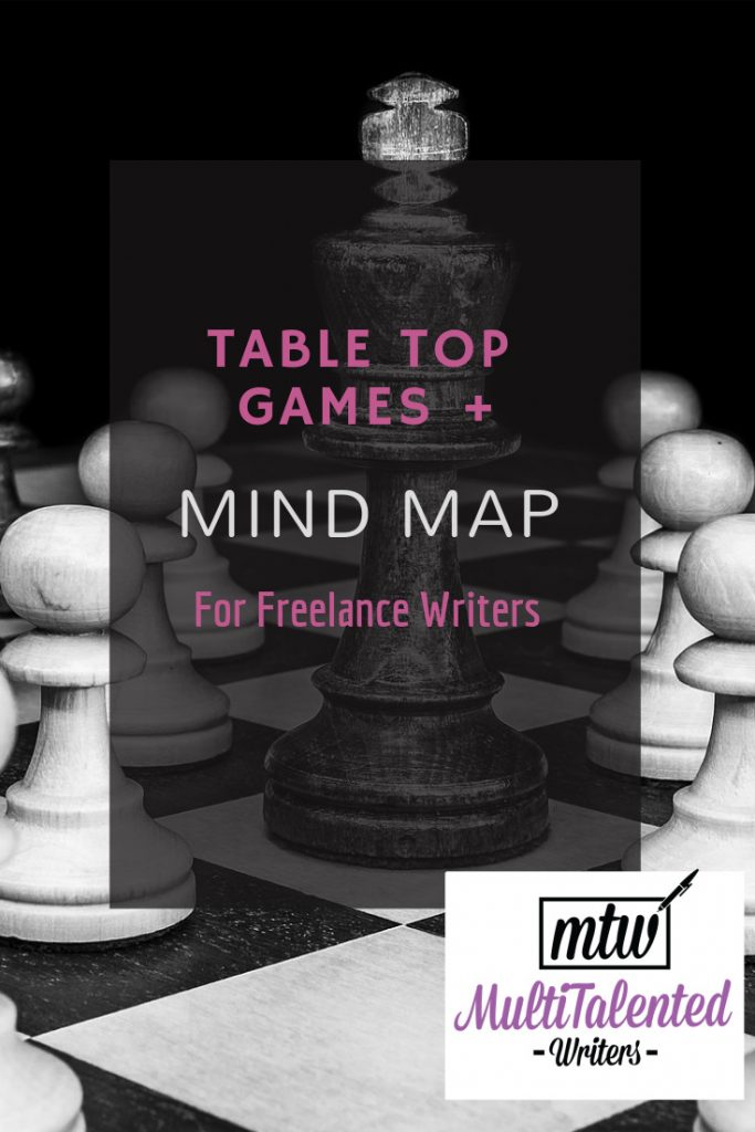 Table Top Games and Mind Map for Freelance writers