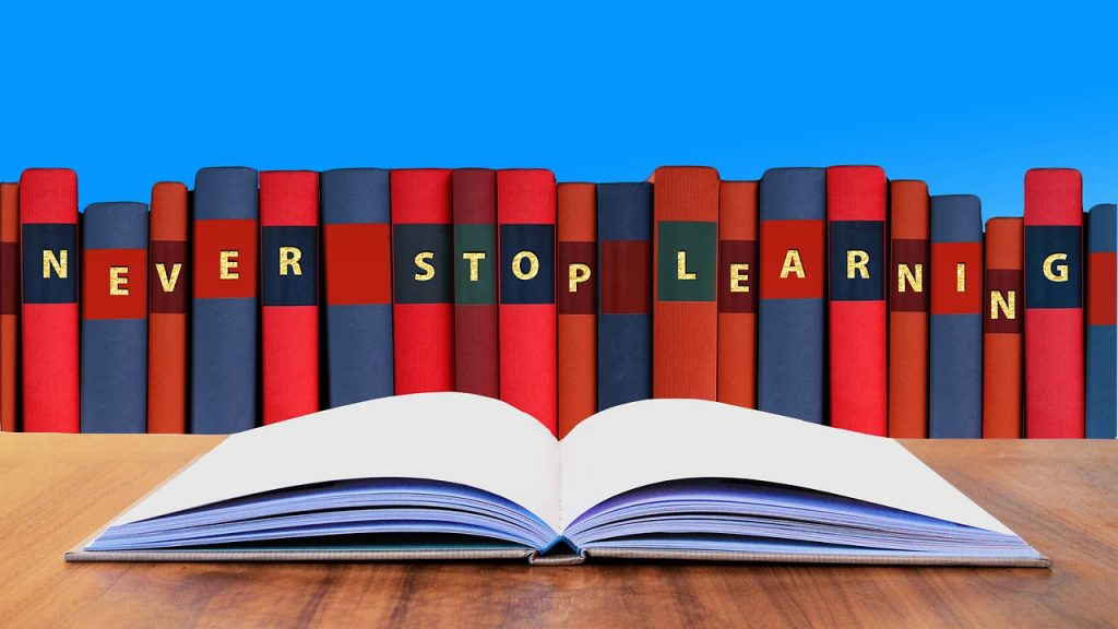 never stop learning curriculum books