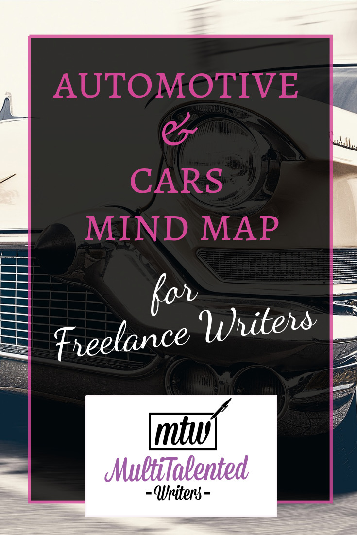 Automotive and Cars mind map for freelance writers on MultiTalented Writers