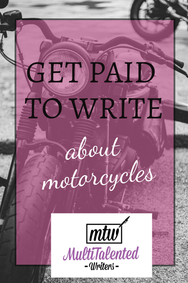 Get Paid to write about motorcycles, MultiTalented Writers. Picture of Motorcycle in background, picture by Arthur Edelman on Unsplash