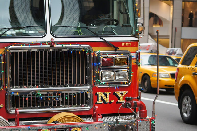 free stock photo of a fire truck in NY City.