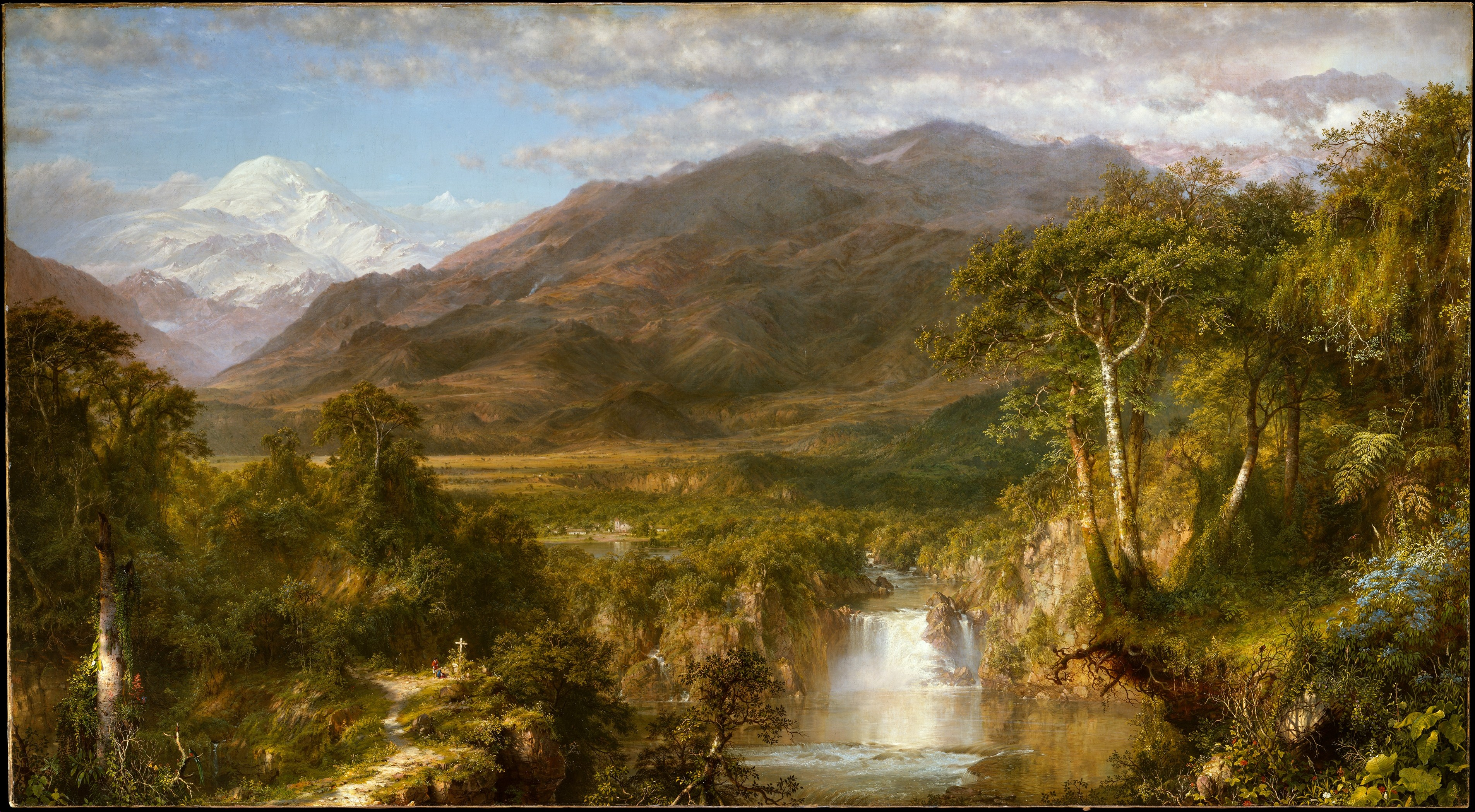 Painting, Heart of the Andes,1859 Frederic Edwin Church American