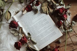 Book and dried roses. Photo by Elaine Howlin on Unsplash
