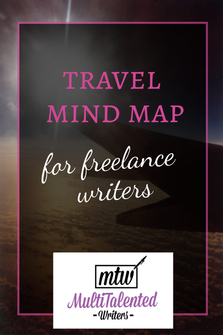 Travel writing mind map for freelance writers, MultiTalented Writers