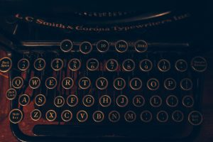 typewriter keys Photo by Andrew Seaman on Unsplash