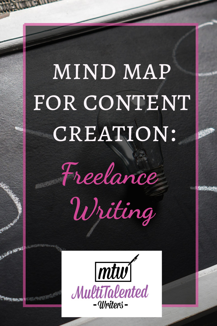 Mind Map for Content Creation: Freelance Writing, MultiTalented Writers. Use this mind map to come up with ideas for blog posts about freelance writing.