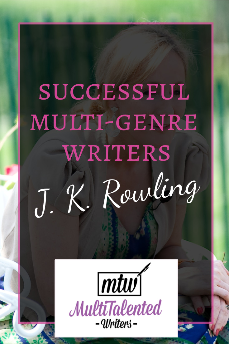 Successful Multi-Genre Authors: J. K. Rowling. Image author Daniel Ogren. File used with permission via license. Modification: Text overlay.