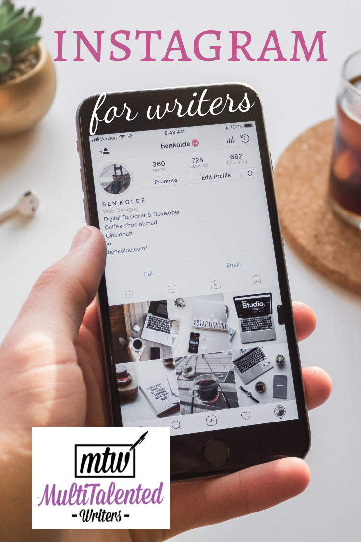 Instagram for Writers on MultiTalented Writers. Photo by Ben Kolde on Unsplash